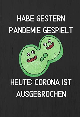 Corona 2020 - Pandemie V8 / Notizbuch / Tagebuch / Journal / 14 x 20,5 cm / 100 Seiten