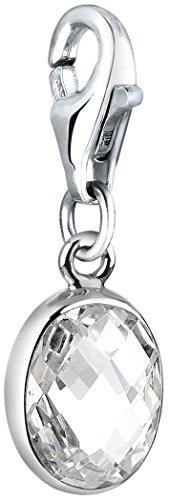 Nenalina Charm Zirkonia-Stein Anhänger in 925 Sterling Silber für alle gängigen Charmträger 712030-019