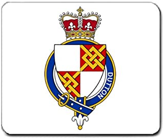 Dutton England Family Crest Coat of Arms Mouse Pad