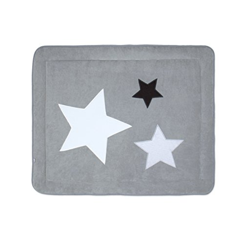BEMINI - Tapis de Parc -75x95 cm - Collection Stary - motifs étoiles Gris foncé - en Terry