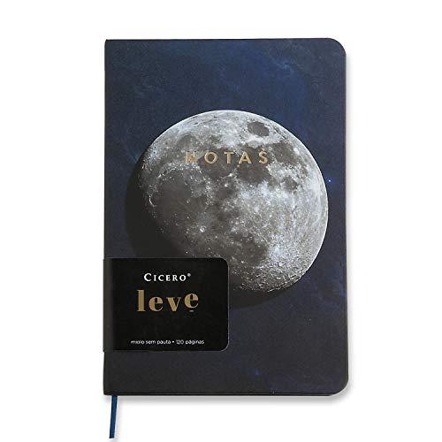 Caderneta Cicero, 2994, Leve Astral Sem pauta 14x21 (Médio) Lua, Azul