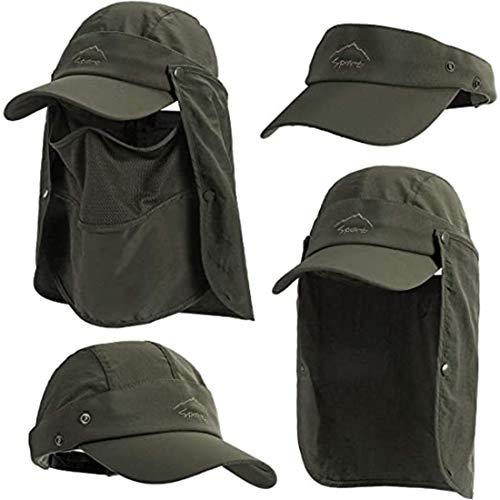 Metme Sombrero para Sol de Pesca, con Solapa de Cuello extraíble, Gorra de protección Solar, Gorra de Pescador Mujeres y Hombres