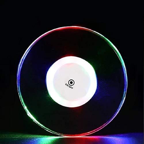 LEDコースターライト コースター イルミネーショ アップ光る 防水 超薄型 2個セット ボトルカップマット グラス ボトル ハーバリウム飾り 多色変更 間接照明 置物ライト 記念日 パーティ 寝室 オフィス