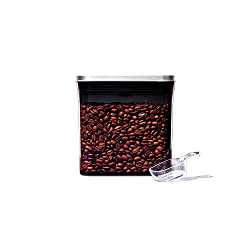 OXO Steel Coffee POP Container with Scoop- 1.7 Qt for coffee, tea and more