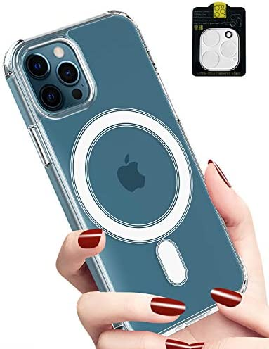 Clear Case for iPhone 12 Pro Max Support Magsafe Charging Magnetic Cell Phone Protective Case product image