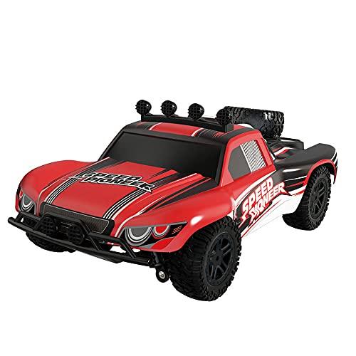 WUHAOD Coche rc con luz Coche eléctrico rc 4WD coche rc Bigfoot rc car Racing rc car Toy rc car 1:18 Off-road car Suspensión de cuatro ruedas rc car 2.4g 'Rc Car Antideslizante Neumático Rc Car Rc Car