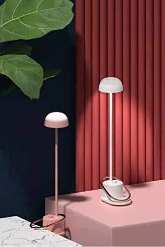 GQC LED ベッドサイドランプ 無段階 調光 二種類調色 柔軟性アーム クリップ式 可愛い キノコ形 卓上ライト テーブルライト USB充電 電気スタンドナイトライト デスクライト 寝室 おしゃれ 間接照明