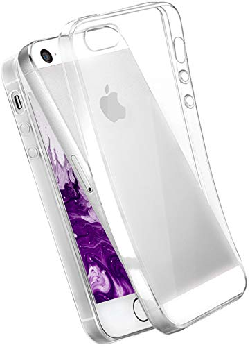 COVERbasics Cover Compatibile con iPhone 5 5s SE 2016 (AIRGEL 0.3mm) Custodia Trasparente Morbida Protezione Antiurto in TPU Silicone Gel Gomma Super Sottile Fina Ultra Slim