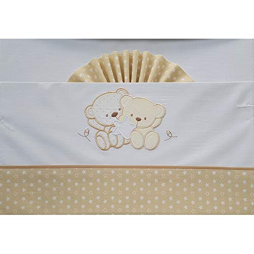 Duffi Baby 0728-05 - Sábana ositos y estrella, algodón, minicuna
