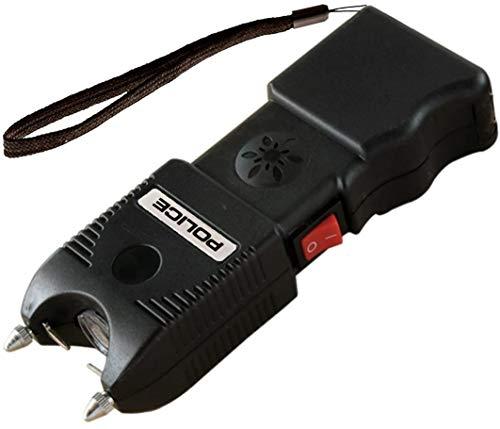 POLICE Stun Gun TW10-58 Billion Heavy Duty Rechargeable with Siren Alarm LED Flashlight