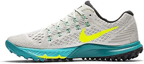 Nike 749335-003, Zapatillas de Trail Running Mujer, Blanco (Light Bone/Volt Dust Rio Teal), 38.5 EU