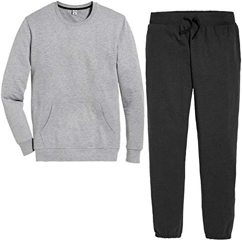 Active Touch® Herren Jogginganzug Trainingsanzug, 2-teilig (grau meliert anthrazit, Gr. 2XL 60/62)