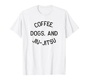 Coffee Dogs Jiu Jitsu Shirt for BJJ Jujitsu Gift