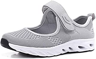 BEESCLOVER Summer Breathable Women Sneakers Healthy Walking Shoes Outdoor Mesh Antislip Sport Running Shoes Mother Gift Comfort Light Flats