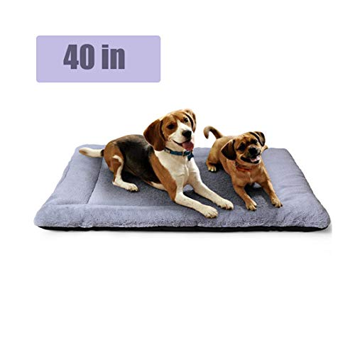 PETSGO Pet Crate Beds|Supersoft Dog & Cat Beds for Crates-Machine Wash & Dryer Friendly-Anti-Slip Pet Beds for Pets Sleeping
