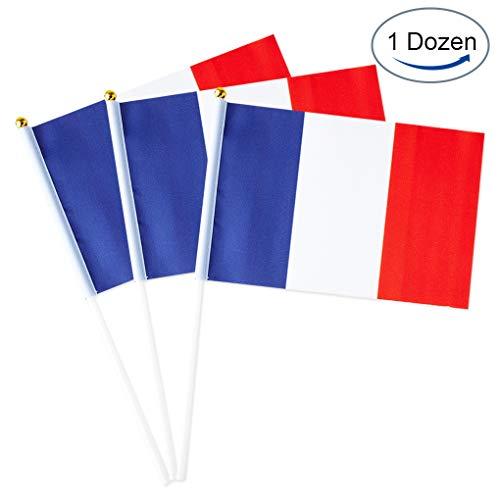 French Flags: Mini Hand 1 Dozen (12 Pack)