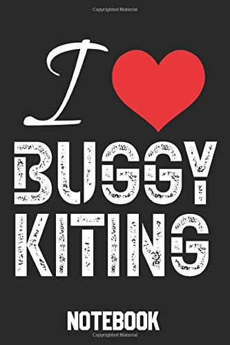 I Love Buggy Kiting Notebook: Buggy Ride With Kite 120 Pages Dot Graph Notebook