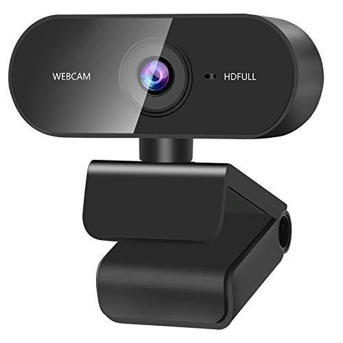 ZasLuke Webcam, 1080P HD USB-Webcam, integriertes Mikrofon mit doppelter Geräuschunterdrückung, 30 fps, drehbar, PC, Mac, LaptopWeb-Kamera für Online-Lehren, Gaming, Konferenzarbeiten