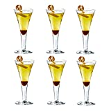 FFFLY Juego de 6 Copas de Cristal sin Tallos, de Vidrio, Rojo Grande, Indestructible, Personalizado, Moderno, Banquete de Bodas Bar de Acampada, Vaso de coctelería, Vaso de Cerveza, para lavavajillas