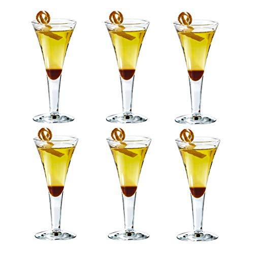 FFFLY Stemless Crystal Glas Grote Rode Wijnglas Set van 6, Onverwoestbare Gepersonaliseerde Moderne Bruiloft Party Camping Bar Kleine Cocktail Glas Bierglas, Vaatwasser Veilig, 60ml 160ml