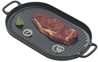 Chasseur Oval Cast Iron Indoor Grill Pan