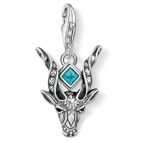 THOMAS SABO Damen-Anhänger Antilopenkopf 925 Silber Türkis - 1418-646-21