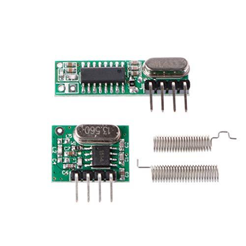 ZOUCY 1 Set 433 MHz RF Superheterodyne Empfänger Sender Modul Kit mit Antenne