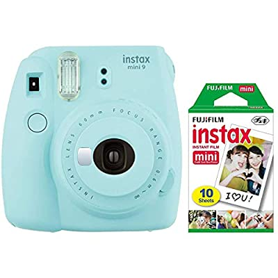 Fujifilm Instax Mini 9 Instant Camera (Ice Blue) with Mini Film Pack by FUJIFILM
