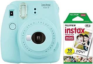 Fujifilm Instax Mini 9 Instant Camera (Ice Blue) with Mini Film Pack