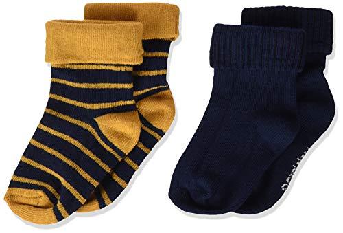 Noppies Baby-Jungen B 2 Pack Kareedouw Socken, Inca Gold-P041, 6M-12M