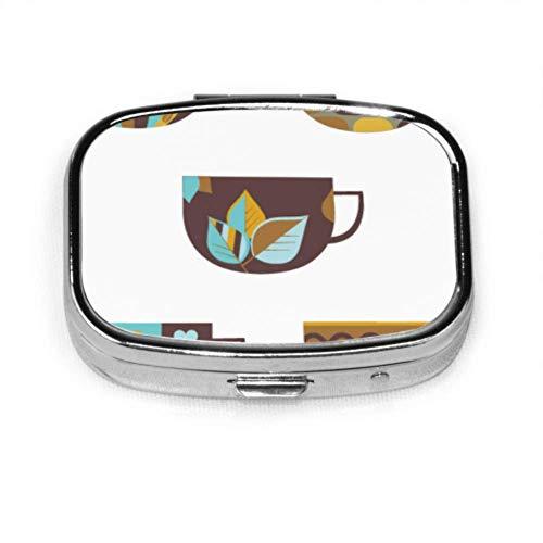 Kaffeetasse Tägliche Trinkversorgung Tag Pillenetui Niedliche Pillenetuis Tablet Halter Wallet Organizer Etui Für Tasche oder Geldbörse