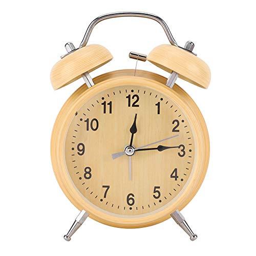 Wacent Mechaniczny budzik, przydatne narzędzie dla majsterkowiczów i instrukcja obsługi sprzętu do wciągania metalowy zegar Double Twin Bell