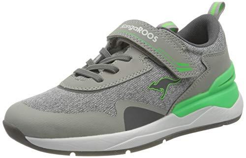 KangaROOS Unisex KD-Gym EV Sneaker, Vapor Grey/Neon Green 2198, 35 EU