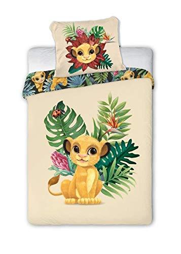 Disney Lion King 013 König der Löwen Kinderbettwäsche Babybettwäsche 100x135 cm + 40x60 cm