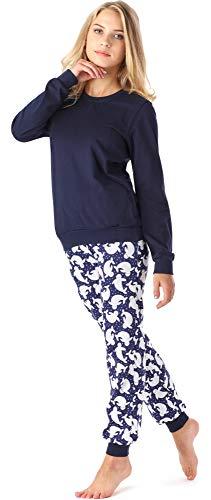 Merry Style Mädchen Jugend Schlafanzug MS10-222 (Marine Punkte, 158)