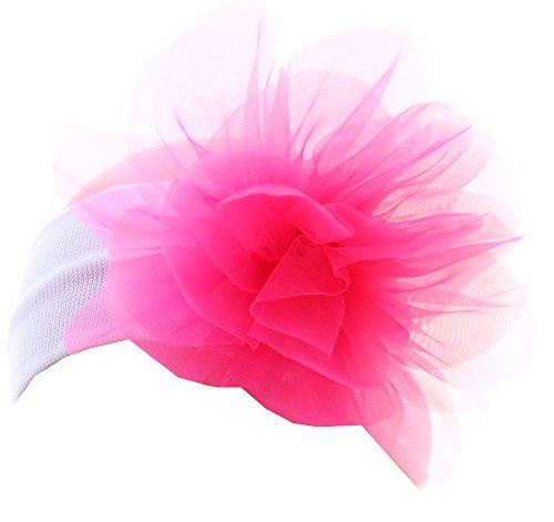 Hoofdband haarband baby haarsieraad hoofdband wit/roze bloem La Bortini