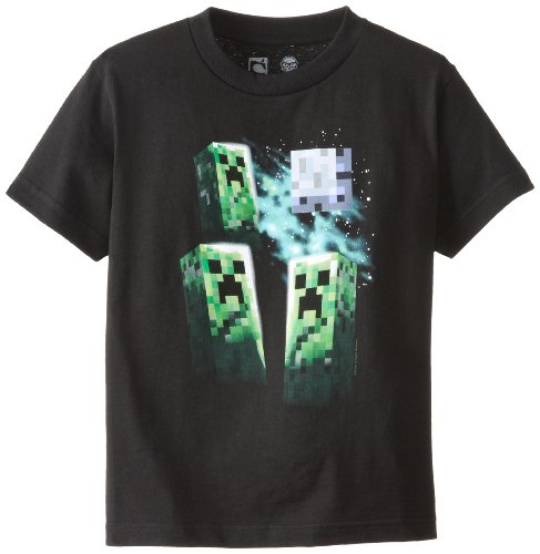Minecraft Three Creeper Moon Youth T-Shirt Youth Small