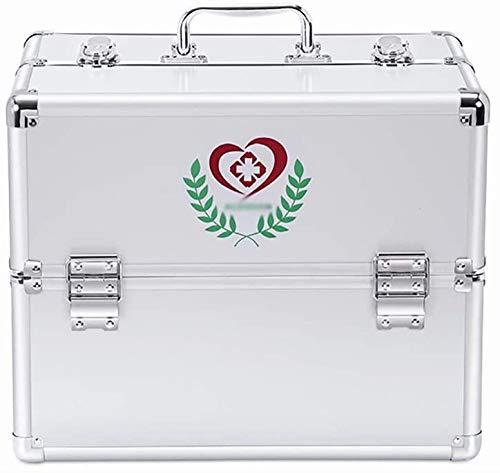 Medicine Kasten Medicine Box Huishoudelijke Medicine Box Eerste Hulp Medische Kit Drug Opslag Box Check Box Multi-Layer Dubbele Open Grote Capaciteit Anti-Drop Wear (Maat: 30 * 21.7 * 24cm(Drielaag)) 36 x 25 x 29 cm.