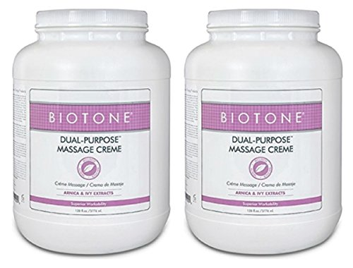 Find Bargain BIOTONE Dual Purpose Massage Creme, 2 x Gallons, DPC1G