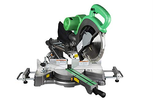 Metabo HPT 10-Inch Sliding Compound Miter Saw, Adjustable Laser Guide, Double Bevel, Electronic Speed Control, 12 Amp Motor, Electric Brake (C10FSHS)