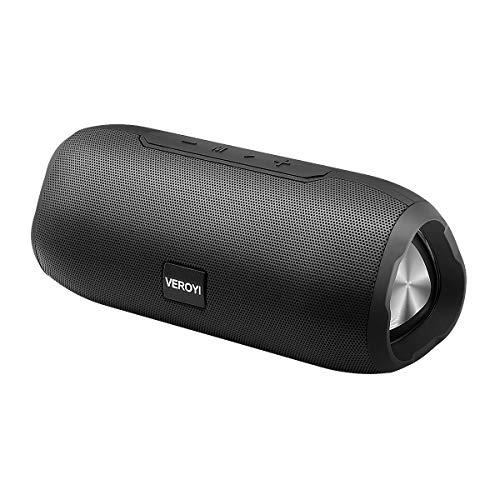 Haut-Parleur sans Fil Bluetooth Portable Veroyi, Haut-Parleur TWS avec Bluetooth 5.0, Basse Hi-FI améliorée pour fête, Barbecue, Maison, Voyage