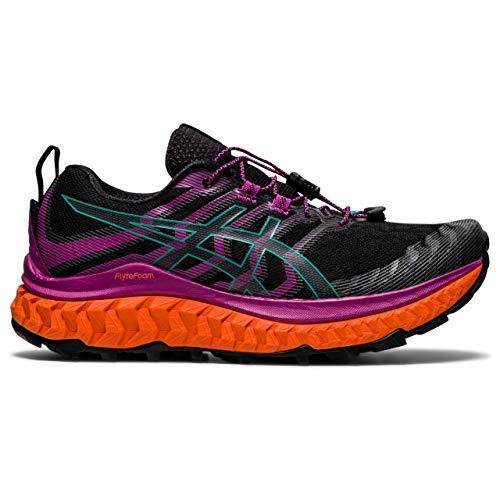Asics Trabuco MAX, Zapatilla de Trail Running Mujer, Black/Digital Grape, 39.5 EU