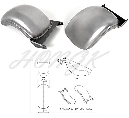 HONGK- REAR CUSTOM FENDER 240/250/260 WIDE STRUTLESS HEAVY DUTY Compatible with HARLEY SOFTAIL [B0774HLYRT]