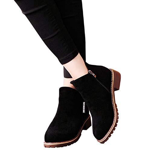 Botas Clasicas para Mujer-Ronamick Botas Martin de Gamuza En Color Liso para...