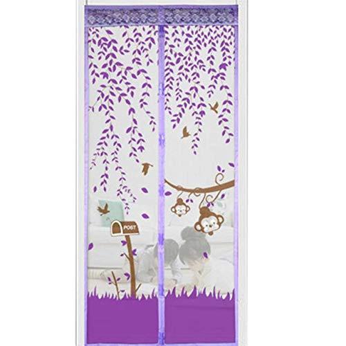High-End magnetische Tür Vorhang Moskitonetz Sommer Familie praktische Anti-Moskito-Tür und Fenster Moskitonetz frei Stanzen C1 B 90 x H 210 cm