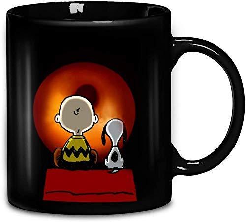 N\A Snoopy Charlie Brown Erdnüsse Film Comic Keramik Kaffeetasse Teetassen Mugreeva Tasse