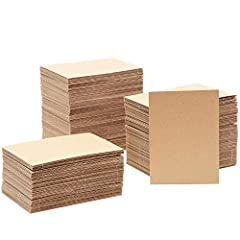 Includes 200 sheets of corrugated cardboard 5 x 7 Inches 1/16 inch thickness Color: Brown Use for protecting items while shipping or for DIY arts and crafts projects