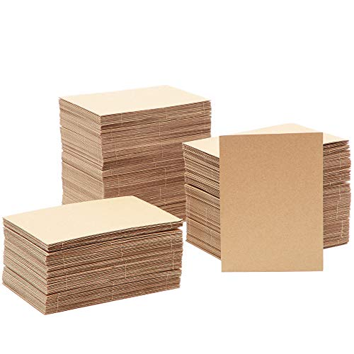 Juvale Corrugated Cardboard Sheets (200 Count) 5 x 7 Inches