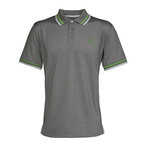 Alberto Herren Golfshirt Poloshirt Dry Comfort grau Gr. M