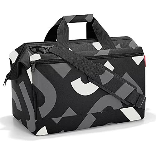 reisenthel Allrounder L Pocket MK1033 in Signature Bold Grey grau – Reisetasche mit 32l Volumen – Hochwertig und bequem – B 48 x H 39,5 x T 29 cm - Praktische Trolley-Aufsteckfunktion
